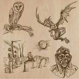 Dia das Bruxas, monstro, mágica - Vector a coleção Fotografia de Stock