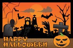Dia das Bruxas na celebração escura da noite Imagem de Stock