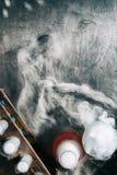 Dia das Bruxas: O laboratório do cientista louco para o feriado fotos de stock