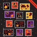 Dia das Bruxas Stamps-1 Imagens de Stock Royalty Free