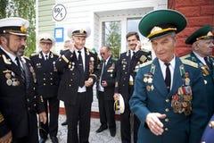 Dia das guardas fronteiriças em Cherkassy Foto de Stock
