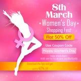 Dia das mulheres felizes ilustração stock