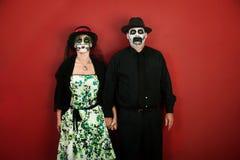 Dia de Λα Muertos ζεύγος Στοκ εικόνα με δικαίωμα ελεύθερης χρήσης