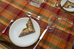 Dia de ação de graças, queda, Autumn Table Place Setting Foto de Stock
