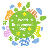 Dia de ambiente de mundo, ilustração do vetor Fotos de Stock Royalty Free