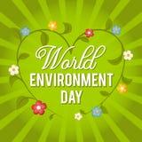 Dia de ambiente de mundo Ilustração do vetor por um feriado Fotografia de Stock Royalty Free
