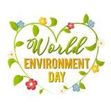 Dia de ambiente de mundo Ilustração do vetor por um feriado Fotografia de Stock