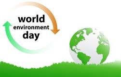 Dia de ambiente de mundo ilustração royalty free