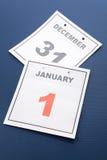 Dia de ano novo do calendário Fotos de Stock
