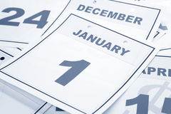 Dia de ano novo do calendário Imagem de Stock Royalty Free