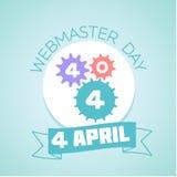 Dia de 4 April Webmaster ilustração do vetor