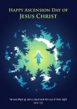 Dia de ascens?o feliz de Jesus Christ ilustração stock