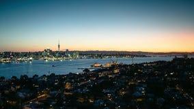 Dia de Auckland à noite video estoque