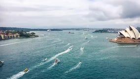 Dia 2018 de Austrália em Sydney Harbour video estoque