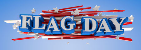 Dia de bandeira Fotografia de Stock Royalty Free