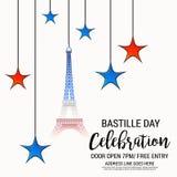 Dia de Bastille feliz Fotografia de Stock