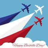 Dia de Bastille feliz Dia da Independência de França Fotografia de Stock