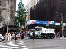 Dia de Bastille na 60th rua, NYC, NY, EUA Imagem de Stock Royalty Free
