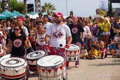 Dia de Brasil - festiwal kultura Brazylia. Barcelona obrazy stock
