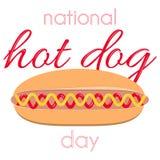 Dia de cão quente nacional imagem de stock royalty free