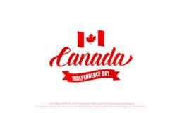 Dia de Canadá Canadá 150 anos de bandeira do aniversário Dia da Independência de Canadá Fotos de Stock Royalty Free