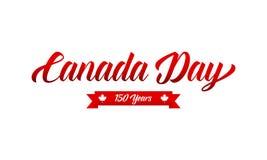 Dia de Canadá Canadá 150 anos de tipografia do aniversário Fotos de Stock