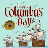 Dia de Colombo feliz Imagens de Stock
