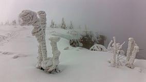 Dia de congelação em montanhas gigantes Fotografia de Stock Royalty Free
