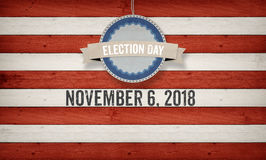 Dia de eleição 2018, fundo do conceito da bandeira americana dos E.U. Fotos de Stock