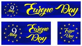 Dia de Europa Feriado anual em maio ilustração stock