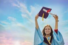 Dia de graduação do estudante fêmea Imagens de Stock