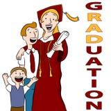 Dia de graduação da mamã Foto de Stock Royalty Free