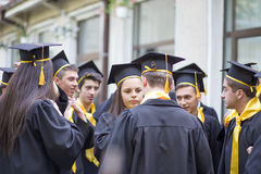 Dia de graduação na High School local em Romênia Imagens de Stock Royalty Free