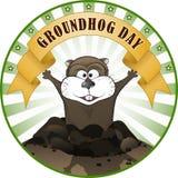 Dia de Groundhog ilustração royalty free