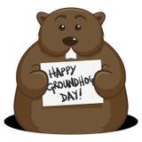 Dia de Groundhog Imagem de Stock Royalty Free