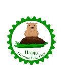 Dia de Groundhog Fotos de Stock Royalty Free