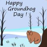 Dia de Groundhog feliz Imagem de Stock Royalty Free
