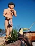 Dia de Indigenan da celebração de Porto Seguro foto de stock