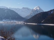 Dia de inverno de Achensee Fotos de Stock