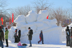 Dia de inverno bonito durante o feriado. Foto de Stock Royalty Free