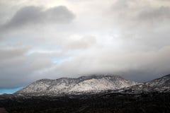 Dia de inverno bonito nas montanhas cobertos de neve em Tucson o Arizona Foto de Stock Royalty Free