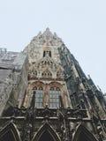 Dia de inverno frio em Viena, Áustria imagens de stock