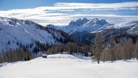 Dia de inverno na neve Fotos de Stock