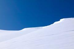 Dia de inverno perfeito com neve do pó Imagem de Stock Royalty Free