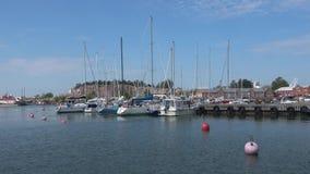 Dia de julho no porto de Hanko finland video estoque