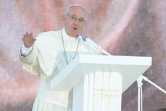 Dia de juventude de mundo 2016 - papa Francis imagens de stock