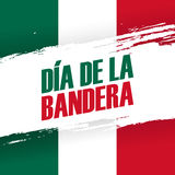 Dia de la Bandera, bandeira do feriado do dia de bandeira de México 24 de fevereiro Fotos de Stock
