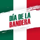 Dia de la Bandera, insegna di festa di giorno della bandiera del Messico 24 febbraio Fotografie Stock