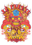 Dia de lor muertos. Vector illustration ideal for printing on apparel clothes Royalty Free Stock Image