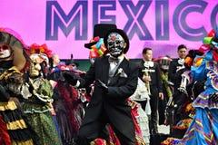 Dia de Los Muertos καρναβάλι Ημέρα της νεκρής παρέλασης στοκ εικόνες